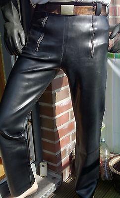 Latex jeans, Frontklappe, L, schwarz, ca 0.9 mm dick