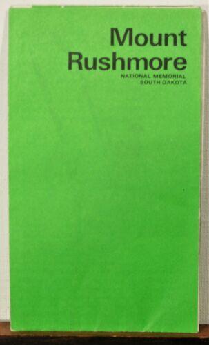 1973 Mount Rushmore National Memorial South Dakota info travel brochure map b