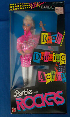 Barbie and the Rockers BARBIE 1986 Real Dancing Action NRFB Sealed