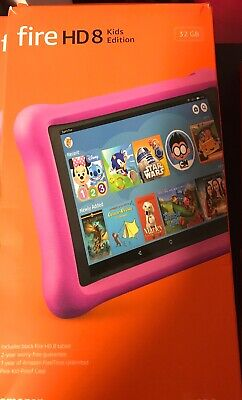 Amazon kindle Fire HD 8 Kids Edition (8th Generation) 32 GB,8 in - Pink