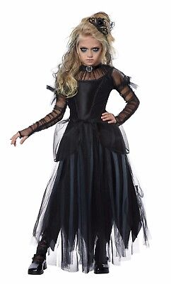 Goth Princess Costume (Christmas Nightmare Dark Princess Victorian Gothic Child Girls)