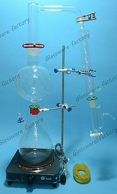 Essential Oil Steam Distillation Kitlab Apparatusallihn Condenser110v Or 220v