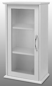 White-Single-Door-Wall-Mounted-Bathroom-Cabinet-with-Glass-Door