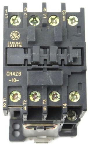 GE Contactor Type CR4ZC, CR4ZB Coil Voltage 24VDC, 48VDC, 125VDC