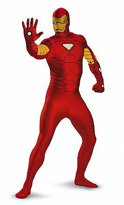 NEW Marvel Iron Man ADULT Bodysuit Costume Halloween XL ](Adult Ironman Suit)