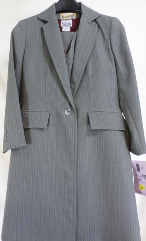 Reed Hill Saddleseat Childs 3pc suit Grey Pin poly size 6 - USA