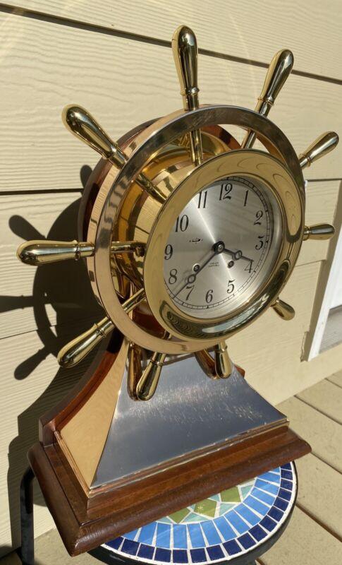 "Chelsea Ship's Bell Clock Mariner 6"" Dial Ca. 1977"