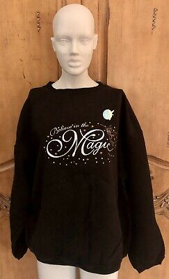 VINTAGE 2000 WALT DISNEY TINKER BELL MAGIC SWEATSHIRT & PIN. X-LARGE NEVER WORN