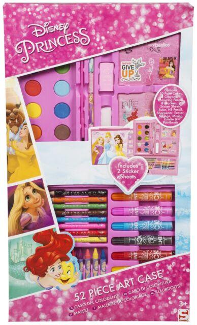 Official Disney Princess 52 Piece Colouring Art Case **NEW**