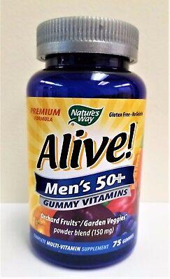 Natures Way Alive  Men S 50  Gummy Multi Vitamin 75 Gummies  Exp  06 18