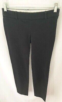 J.Crew Black Skinny Ankle Side Zip Cotton + Spandex Pants - Size 0