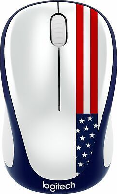 Logitech - M317 Wireless Optical Mouse - American Flag