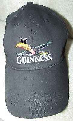 Guinness Black Baseball Hat Cap One Size Fits Most 59CM EUC