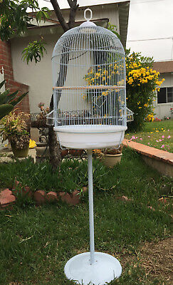 "57"" Round Dome Bird Cage Finch Canary Cockatiel Parakeet Bird Cage With Stand542"