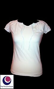 BNWOT-Esprit-8-10-12-14-16-18-Designer-White-Short-Sleeve-T-shirt-Casual-Top