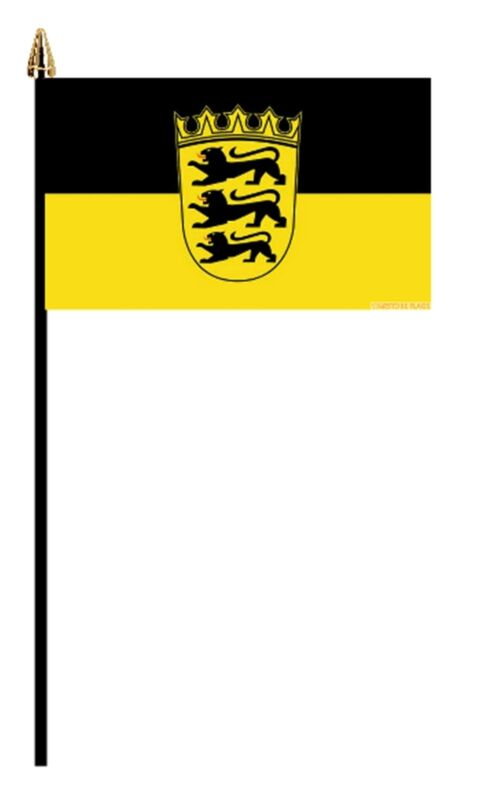 """BADEN GERMAN PACK OF 12 SMALL HAND FLAGS flag 6""""x4"""" GERMANY"""