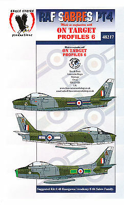 1/48 Eagle Strike Decals F-86 Sabres Monogram Academy Revell Tamiya Hasegawa