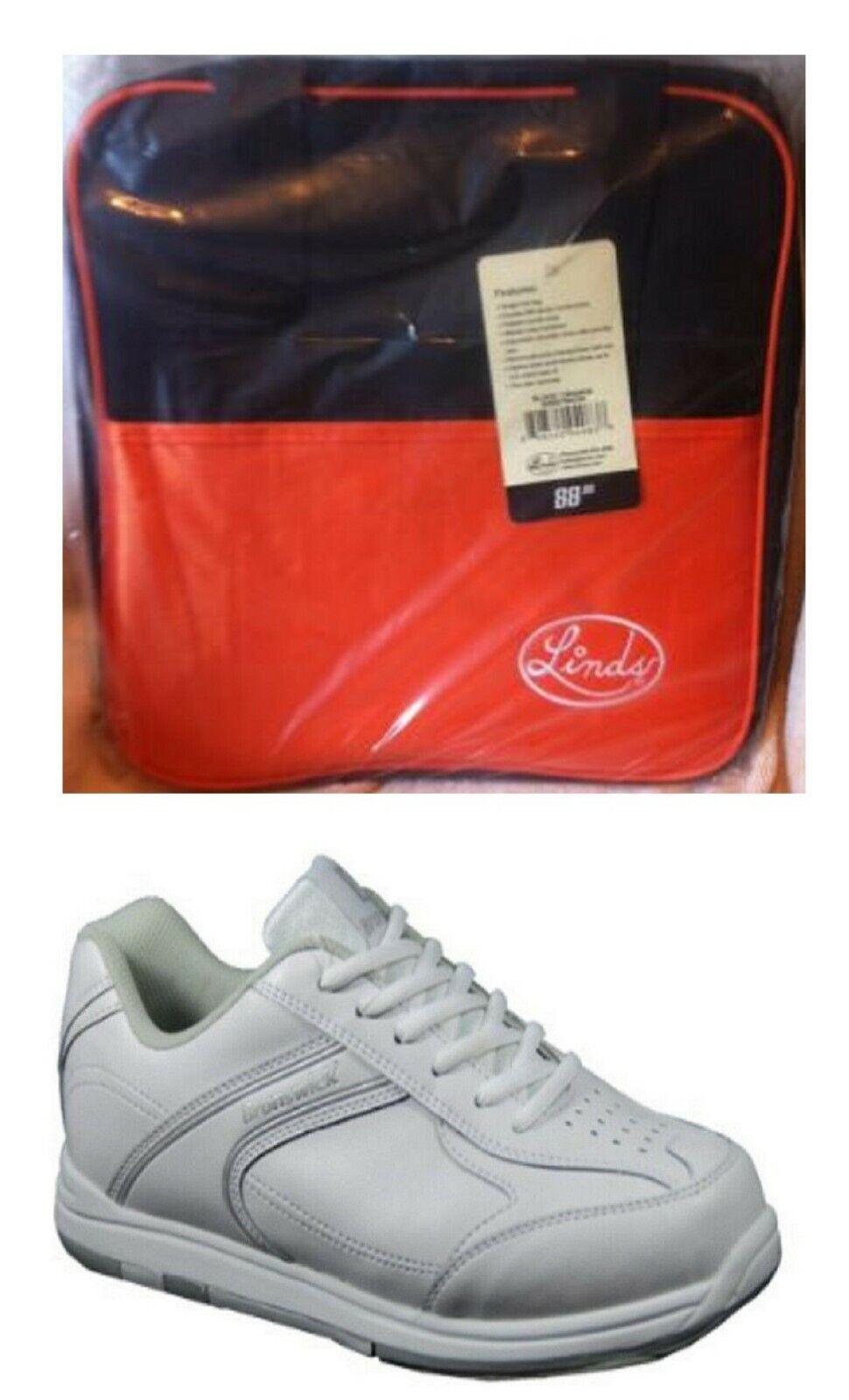 Boys Brunswick Flyer White Bowling Shoes Size 1 & Linds Oran