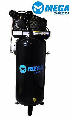 Megapower Air Compressor Mp-6060v 60 Gallon 3hp 1 Phase 11.8 Cfm