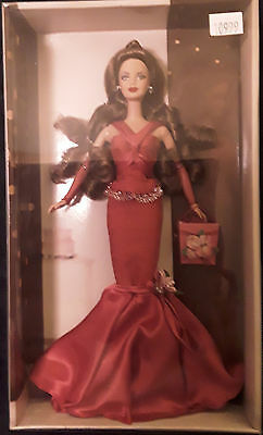 Birthday Wishes Barbie Doll Silver Label Red Gown 2004