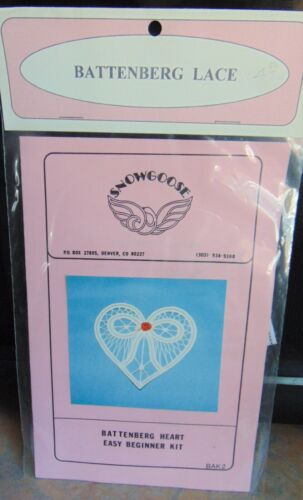 Snowgoose Battenberg Lace Battenberg Heart Easy Beginner Kit