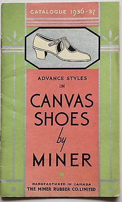 30s vintage SHOE CATALOGUE  gents ladies sports fashion Art Deco Canada