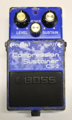 BOSS CS-2 Compression Sustainer Guitar Effects Pedal MIJ 1985 #324 DHL or EMS