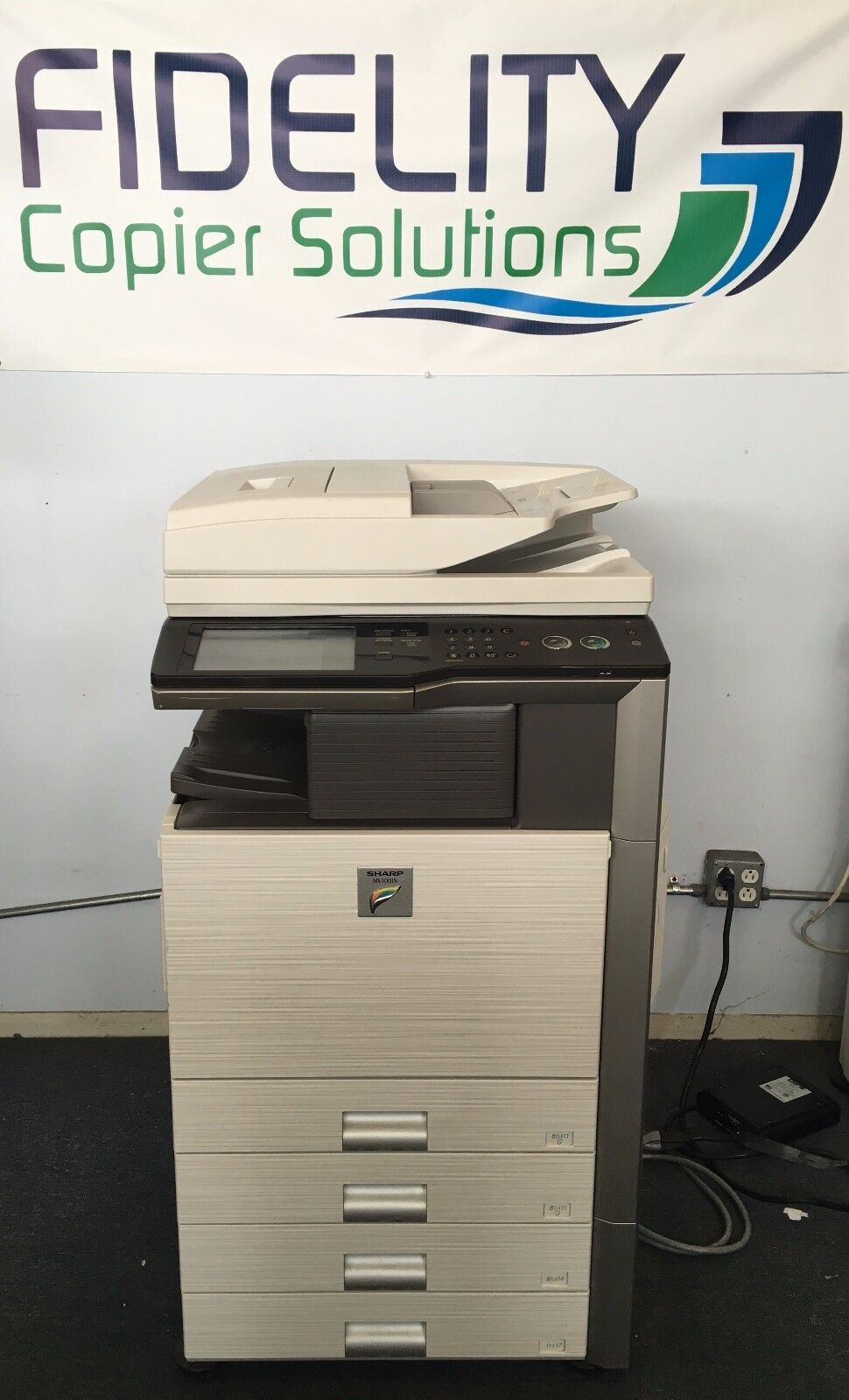 Details about Sharp MX-42N Showroom Quality Color Copier Network Print  Scan Fax Finisher