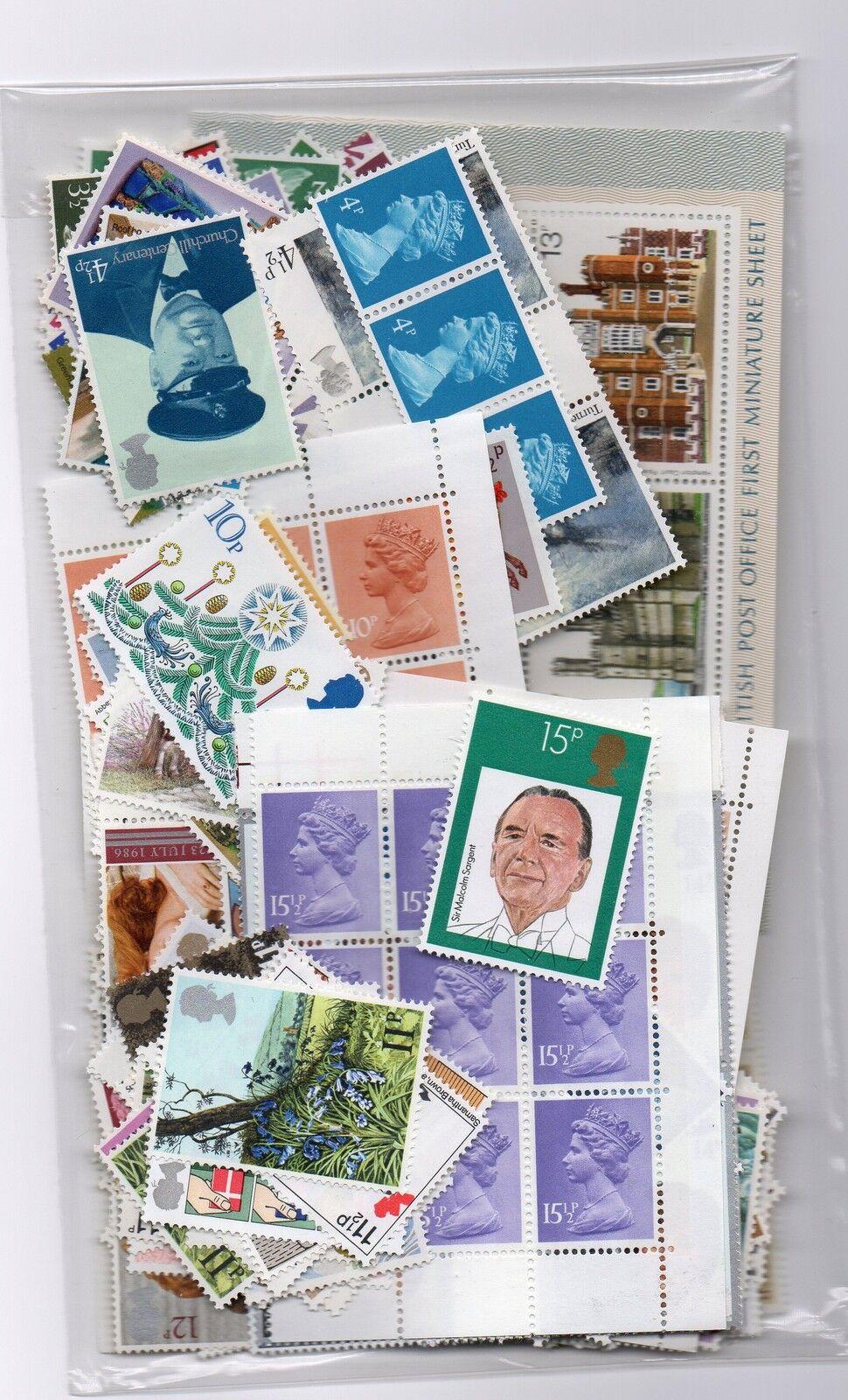 GB mint lower value decimal stamps £20 face. Gummed postage. 100% legal