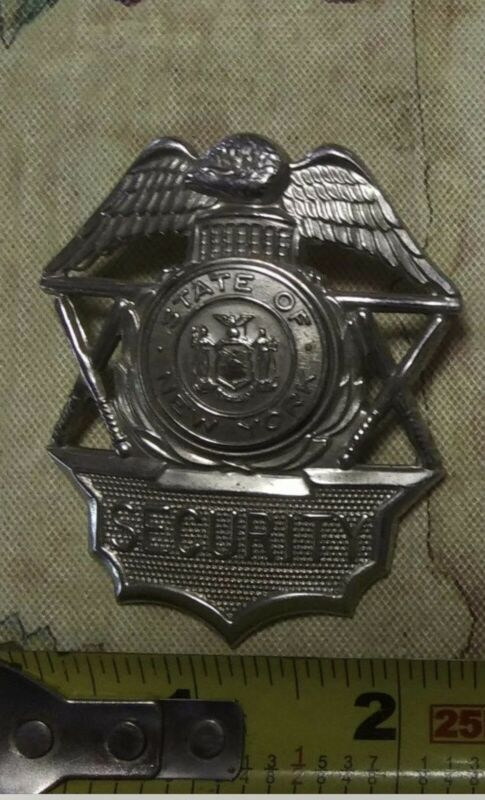 Vintage obsolete State Of New York Security Badge..