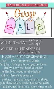 TACK ROOM CLEAN OUT GARAGE SALE - SATURDAY 15 OCTOBER 2016 Mount Barker Area Preview
