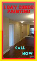 1 DAY CONDO PAINTING! AFFORDABLE EXPERTS!