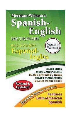 Merriam Websters Spanish English Dictionary New Copyright 2016    Free Shipping