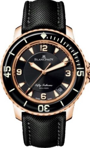 Blancpain Fifty Fathoms 18k Rose Gold Watch Ref# 5015-3630-52A Retail $31000 USD - watch picture 1