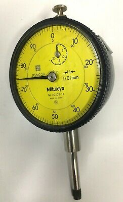 Mitutoyo 2050s-11 Dial Indicator 0-20mm Range 0.01mm Graduation