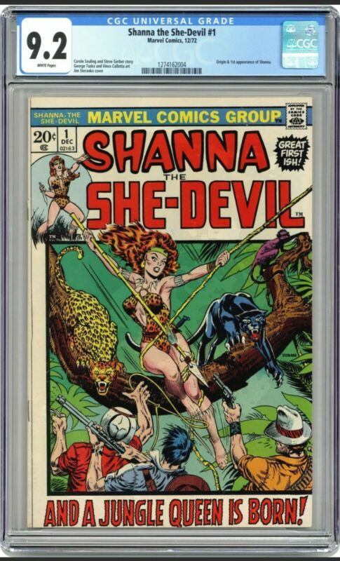 Shanna The She-Devil #1 1st Appearance 1972 CGC 9.2  WP White Pages MARVEL