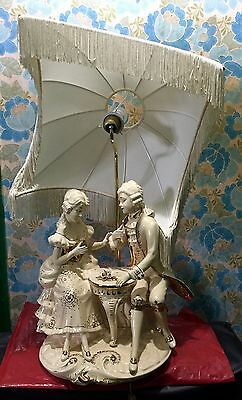 Antique Lampshade Statue