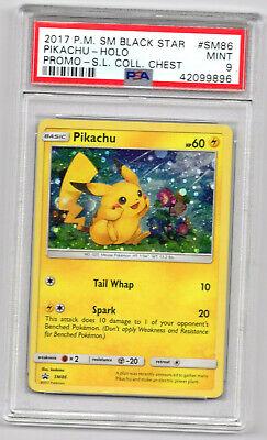 PSA 9 Mint Pikachu holo black star promo s.l collector's Chest Pokemon Card