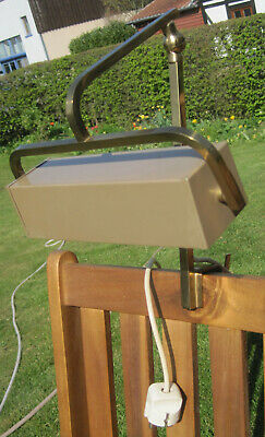 Lampe für Flügel, Leselampe, Messing, zum Klemmen (Notenständer, Bett-Kopfteil)