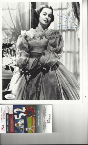 Gone With The Wind  - Olivia de Havilland autographed 8x10 photo JSA Certified