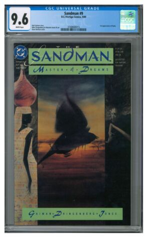 Sandman #9 (1989) 1st Appearance Nada CGC 9.6 White Pages CE987
