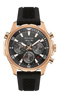 Bulova Marine Star Men's 97B153 Quartz Chronograph Silicone Band 43mm Watch