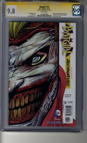 Batgirl # 13 - CGC 9.8 WHITE Pages - SS Gail Simone - Death of the Family