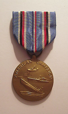 VINTAGE WW II American Campaign Military Medal