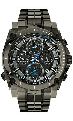 Bulova Men's Quartz Precisionist Chronograph Carbon Fiber 47mm Watch 98B229