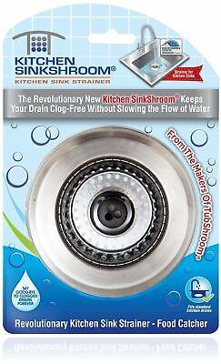 Kitchen SinkShroom® Revolutionary Strainer w/ Anti-Clog Technology by TubShroom