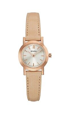 Bulova Women's 97L148 Quartz Beige Leather Strap 24mm Watch