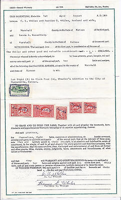 warrenty deed stamps  1966 with 6 stamps