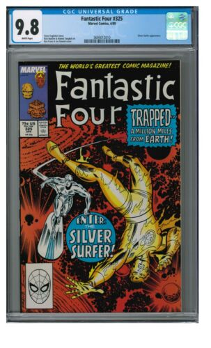Fantastic Four #325 (1989) Classic Silver Surfer Cover CGC 9.8 White Pages GG877