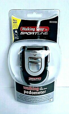 Pedometer By Sportline With Safety Alarm 100 dB Digital Clock & Daily Alarm